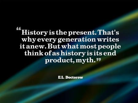 HistoryAsMyth